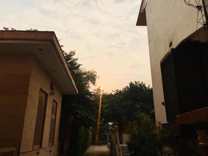 ヴリンダーヴァン夕陽